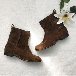 FRYE Cara Short Boots Size 11 Suede Women's
